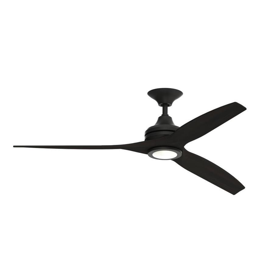 Fanimation Spitfire 60 In Black Led Indoor Outdoor Ceiling