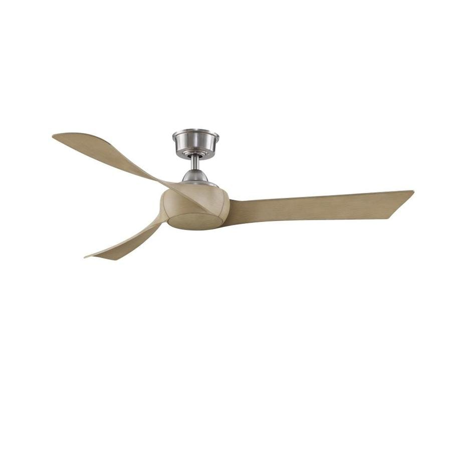 Fanimation Wrap Custom 56 In Brushed Nickel Indoor Outdoor Ceiling Fan With Remote 3 Blade In The Ceiling Fans Department At Lowes Com
