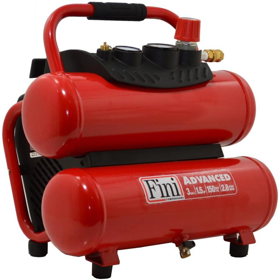 Fini 1.5-HP 3-Gallon 150-PSI 120-Volt Twin Stack Portable Electric Air Compressor