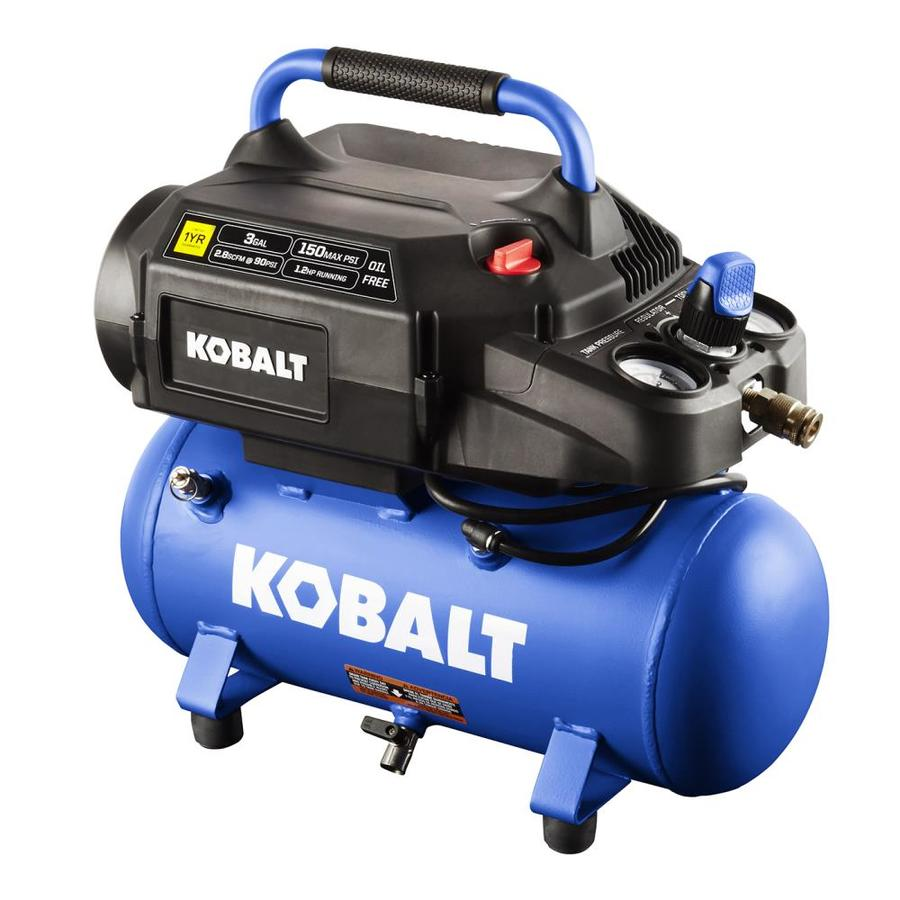 Kobalt 3 Gallon Portable Electric Hot Dog Air Compressor