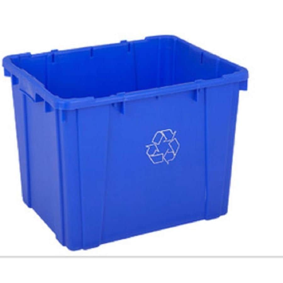 Creative Plastic Concepts 14 Gallon Blue Recycling Bin