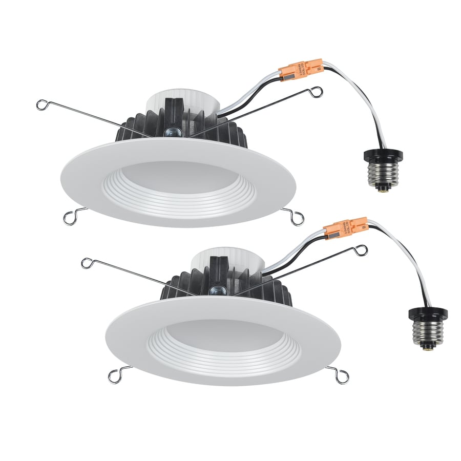 shop utilitech pro 2 pack 65 watt equivalent white dimmable led