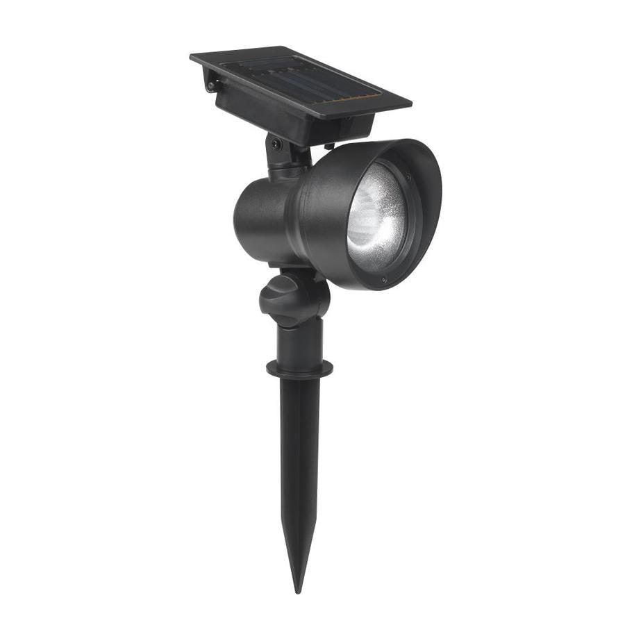 Portfolio 12x Black Solar Led Landscape Flood Light