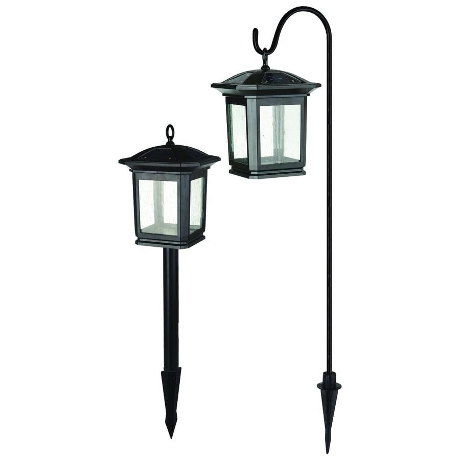 Shop portfolio 2 light black led path light kit at for Walkway lighting fixtures
