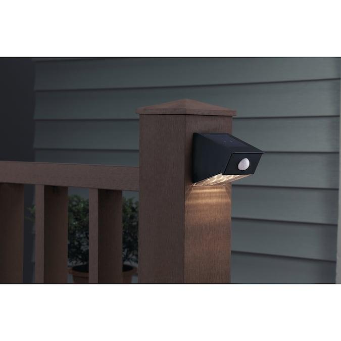 Portfolio 12x Brighter (14.4-Lumen) Black Solar Integrated