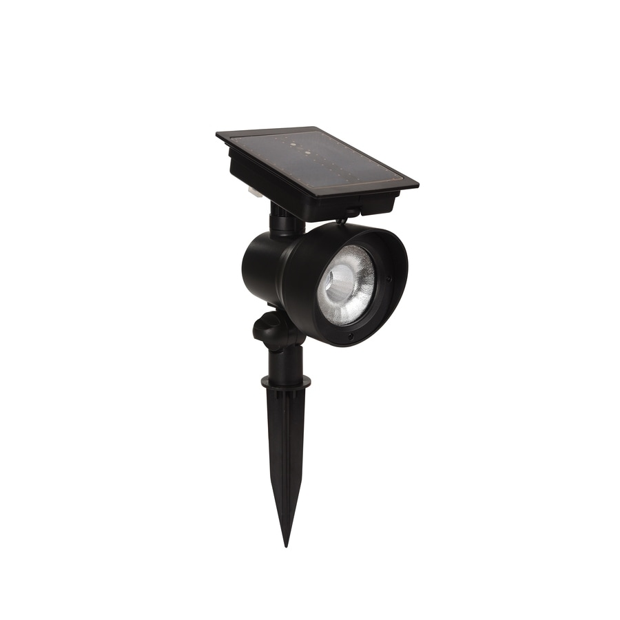 Portfolio 24x Brighter Black Solar LED Landscape Flood Light