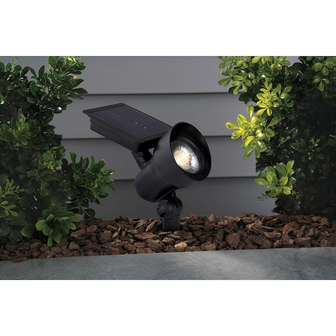 Portfolio 30 Lumen Black Solar Led Landscape Flood Light In The Spot Flood Lights Department At Lowes Com