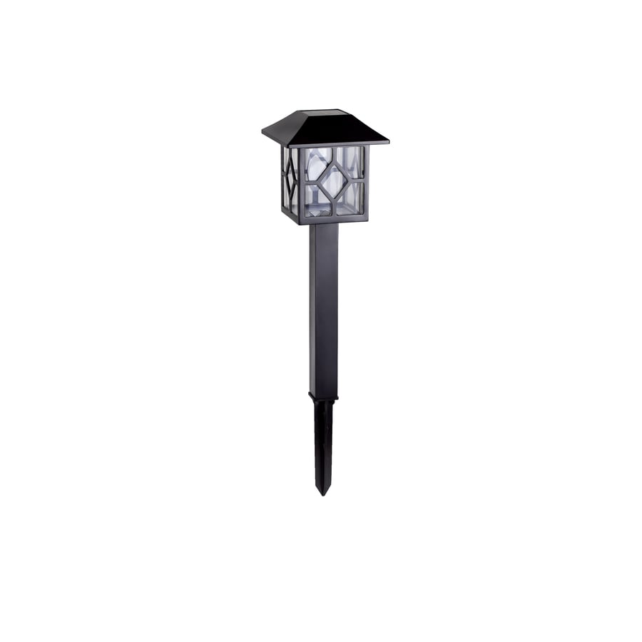 Portfolio 2x Brighter (2.4-Lumen) Black  Solar Led Path Light