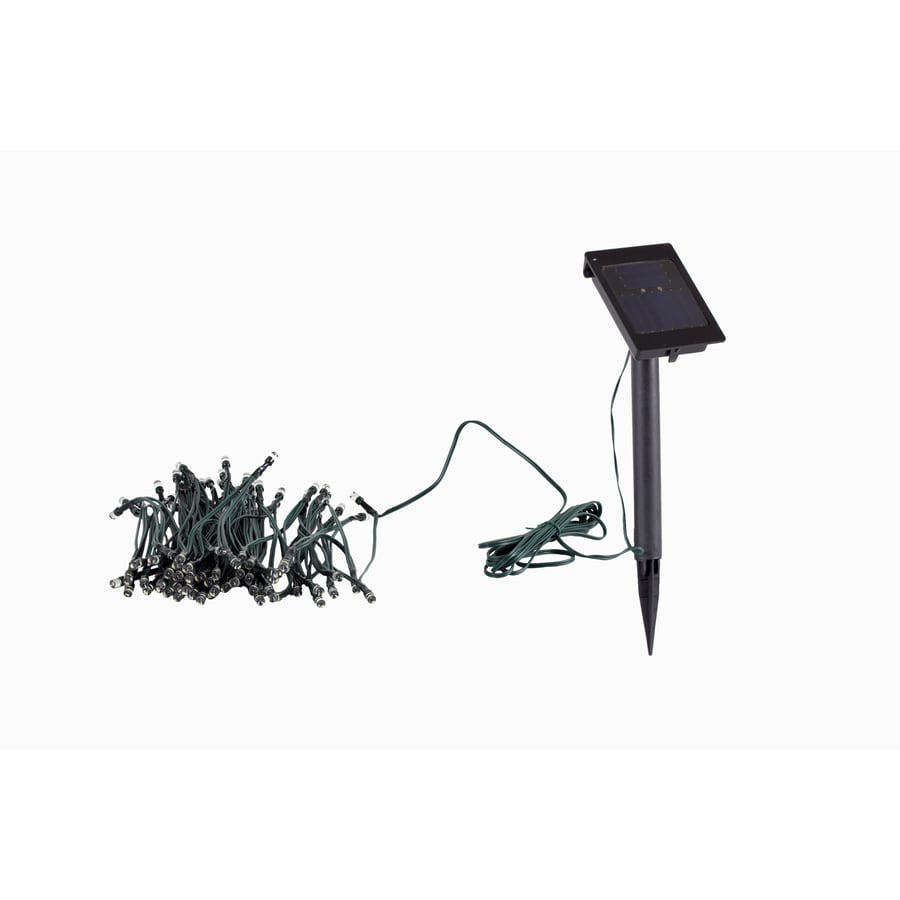 Solar String Lights Outdoor Lowes : Shop 45-ft 100-Light White LED Solar Bulbs String Lights at Lowes.com