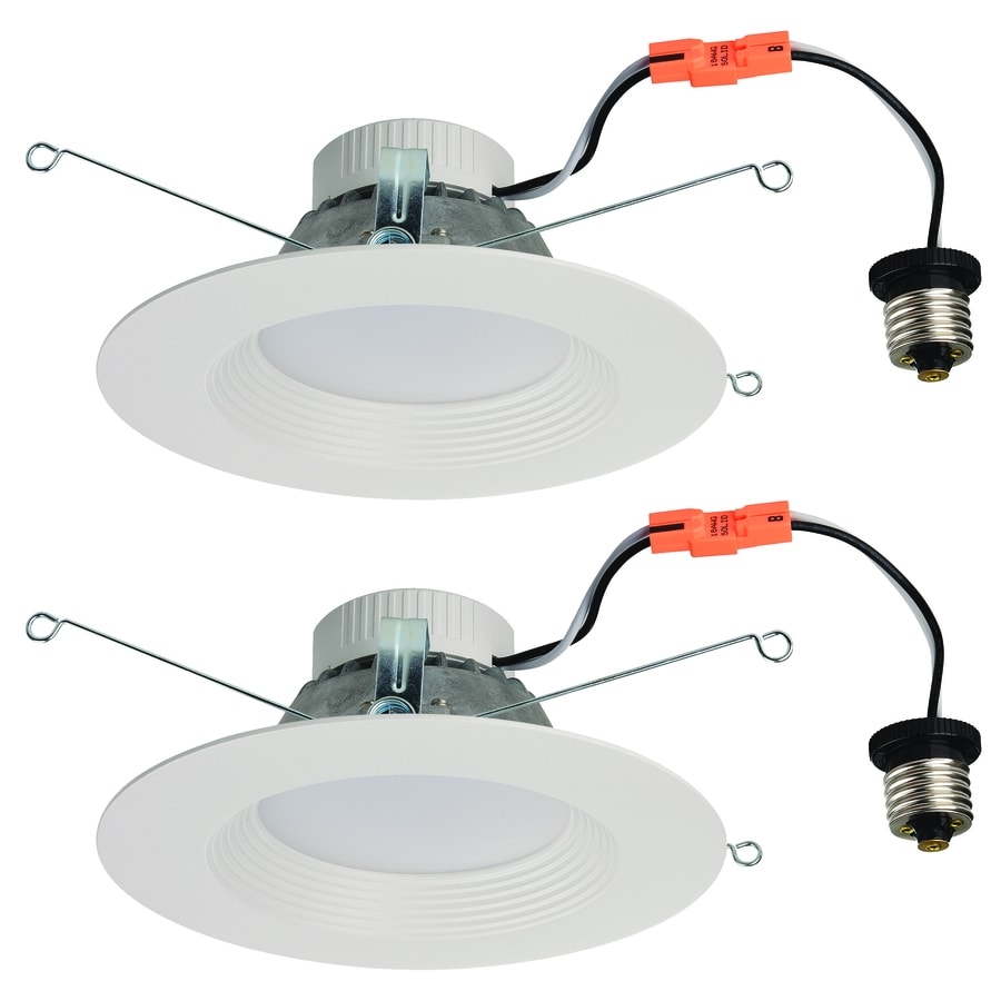 shop utilitech 2 pack 65 watt equivalent white dimmable led recessed