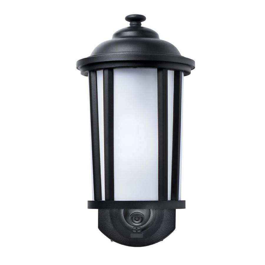 62 in h textured black motion activated dark sky outdoor wall light. Black Bedroom Furniture Sets. Home Design Ideas