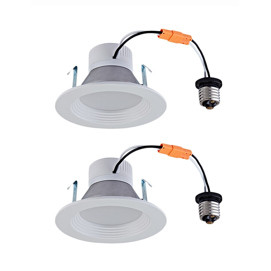 dimmable led recessed lights lowes. utilitech 2-pack 50-watt equivalent white dimmable led recessed retrofit downlights (fits led lights lowes