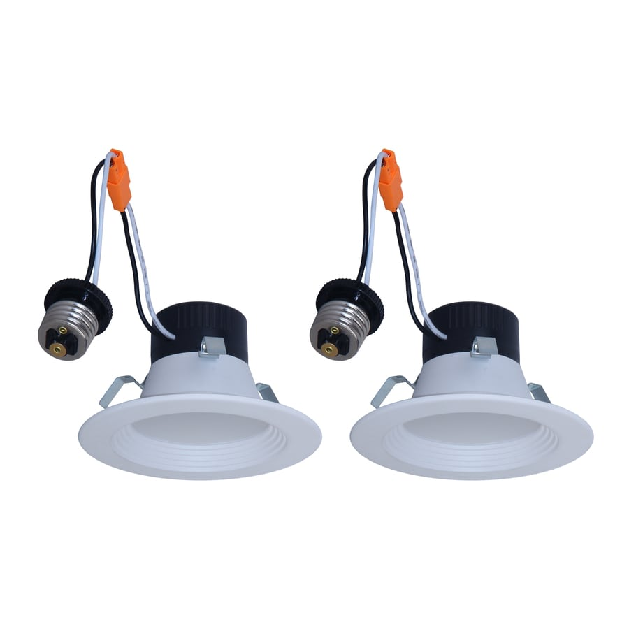 Install Pot Lights In Finished Ceiling: Shop Utilitech 2-Pack 50-Watt Equivalent White Dimmable