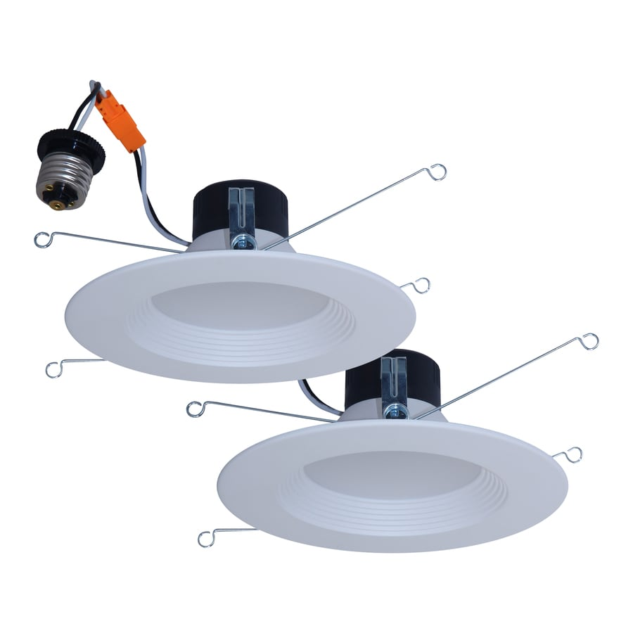 Recessed Downlights At Wiring Up Bathroom Utilitech 2 Pack 65 Watt Equivalent White Dimmable Led Retrofit Fits