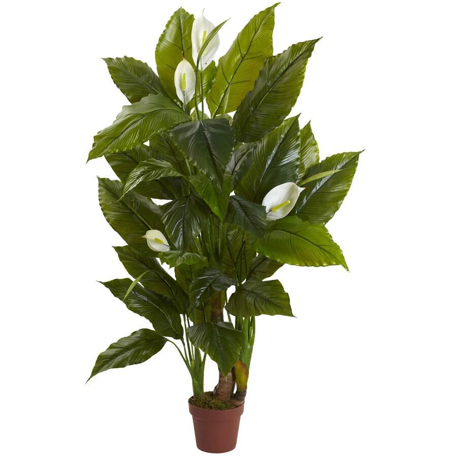 Nearly Natural 54-in Green Spathyfillum