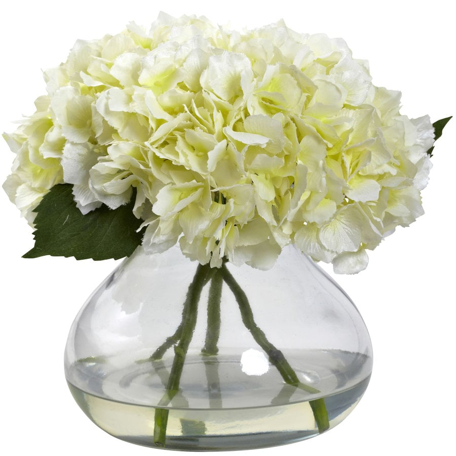 Nearly Natural 9-in Cream Silk Arrangement