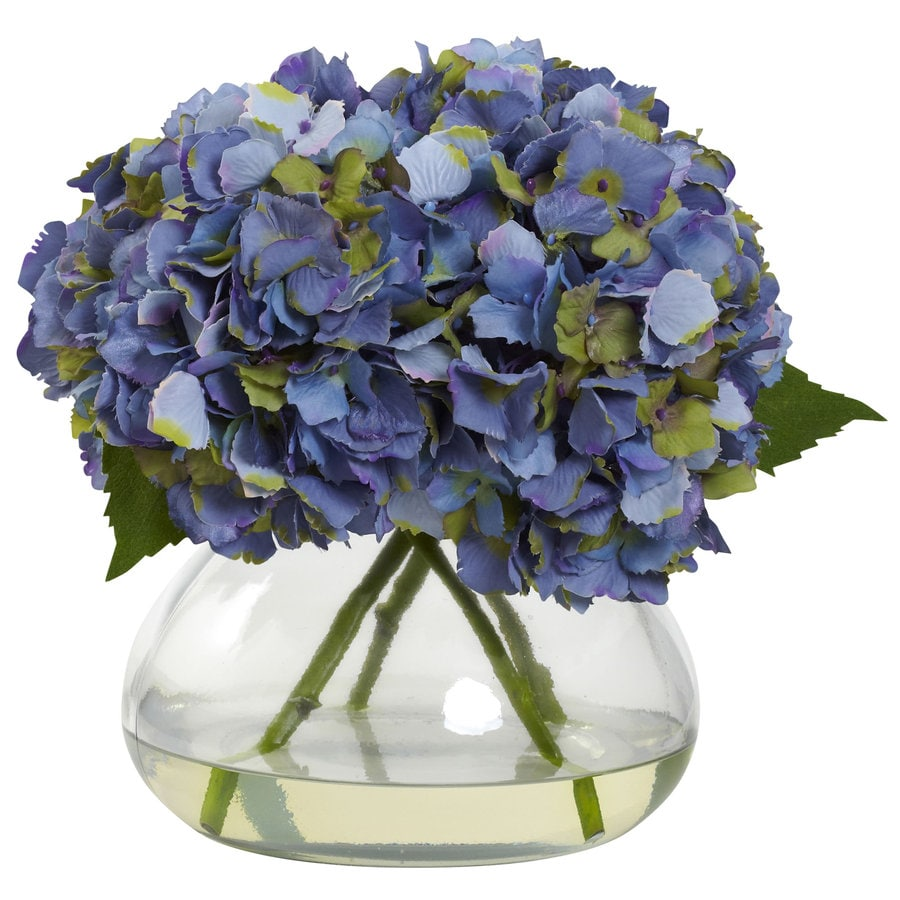 Nearly Natural 9-in Blue Silk Arrangement