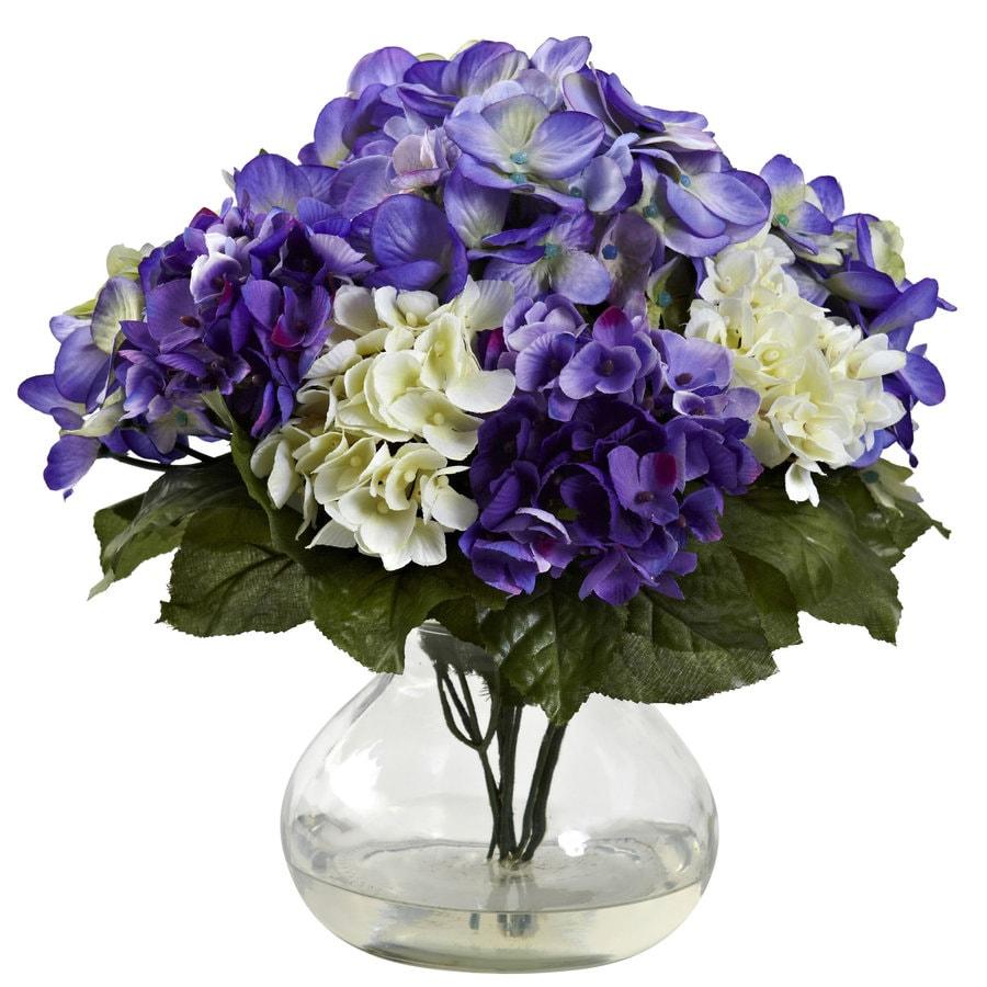 Nearly Natural 11-in Blue/Purple Silk Arrangement