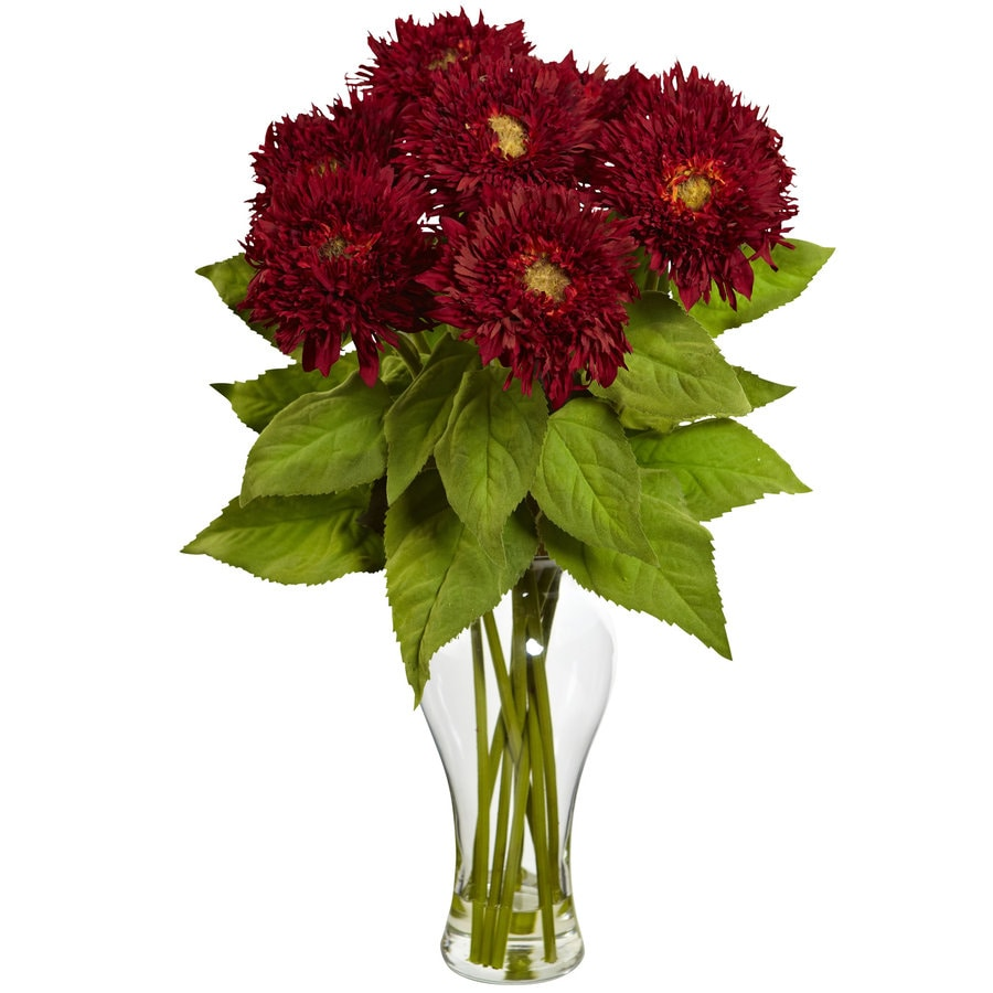 Nearly Natural 22.5-in Red Silk Arrangement