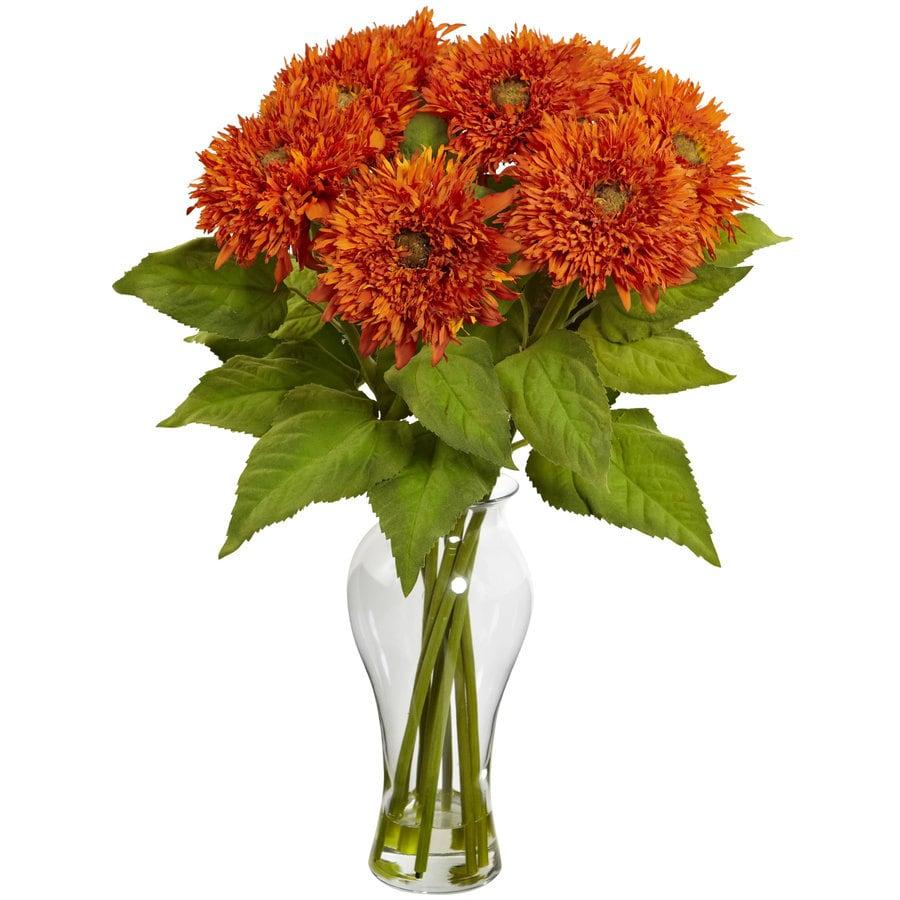 Nearly Natural 22.5-in Orange Silk Arrangement