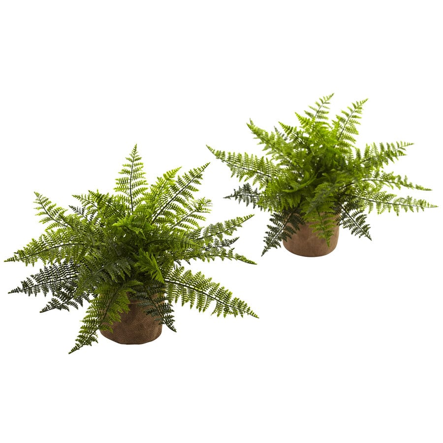 Nearly Natural 15-in Green Fern