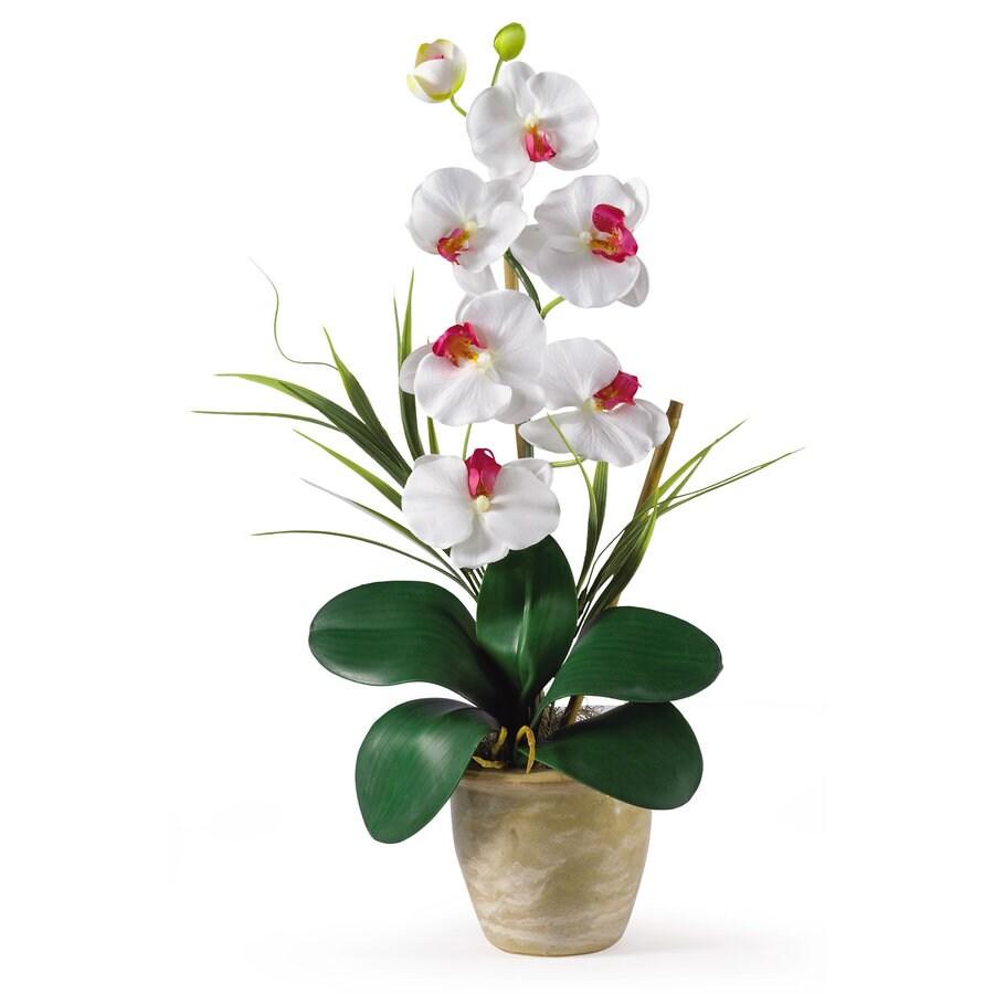 Nearly Natural 21-in White Silk Arrangement