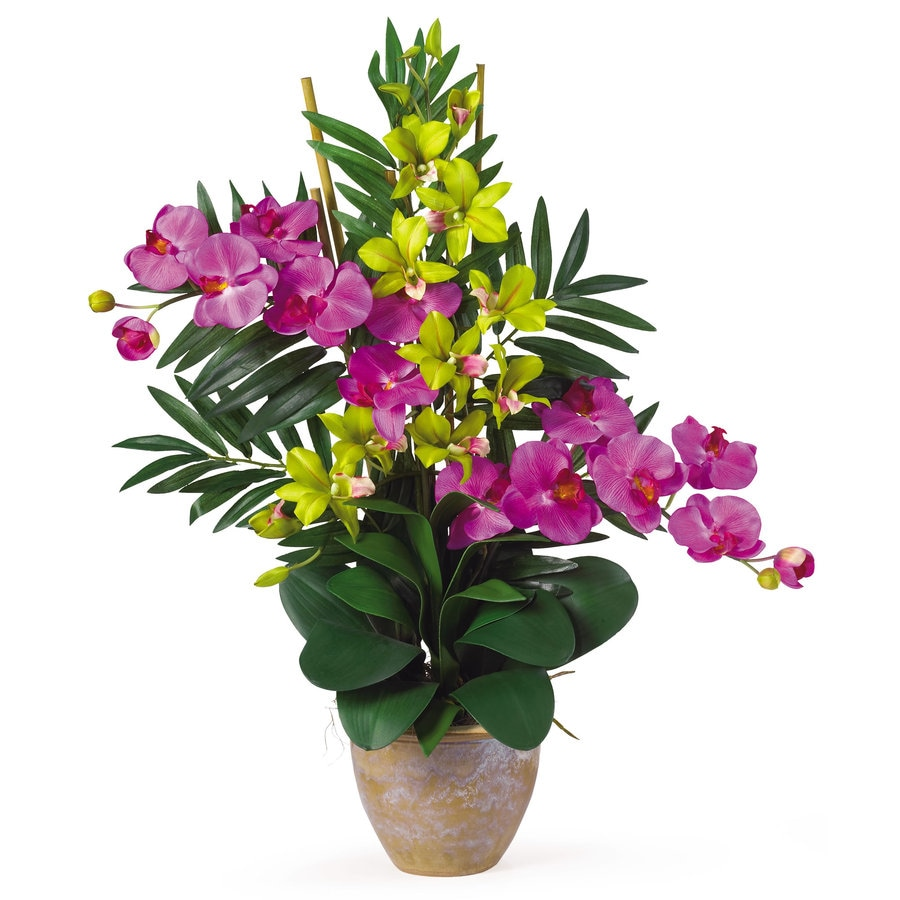 Nearly Natural 29-in Orchid Silk Arrangement
