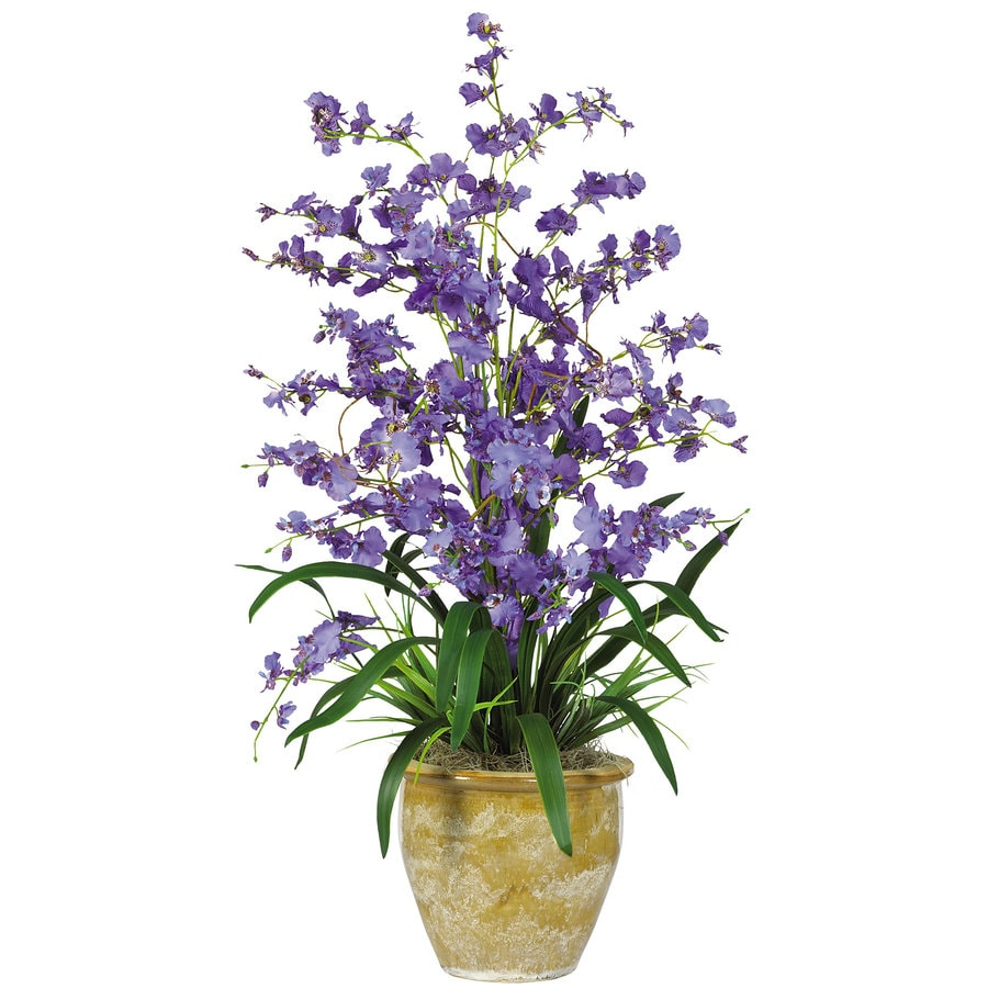 Nearly Natural 32-in Purple Silk Arrangement