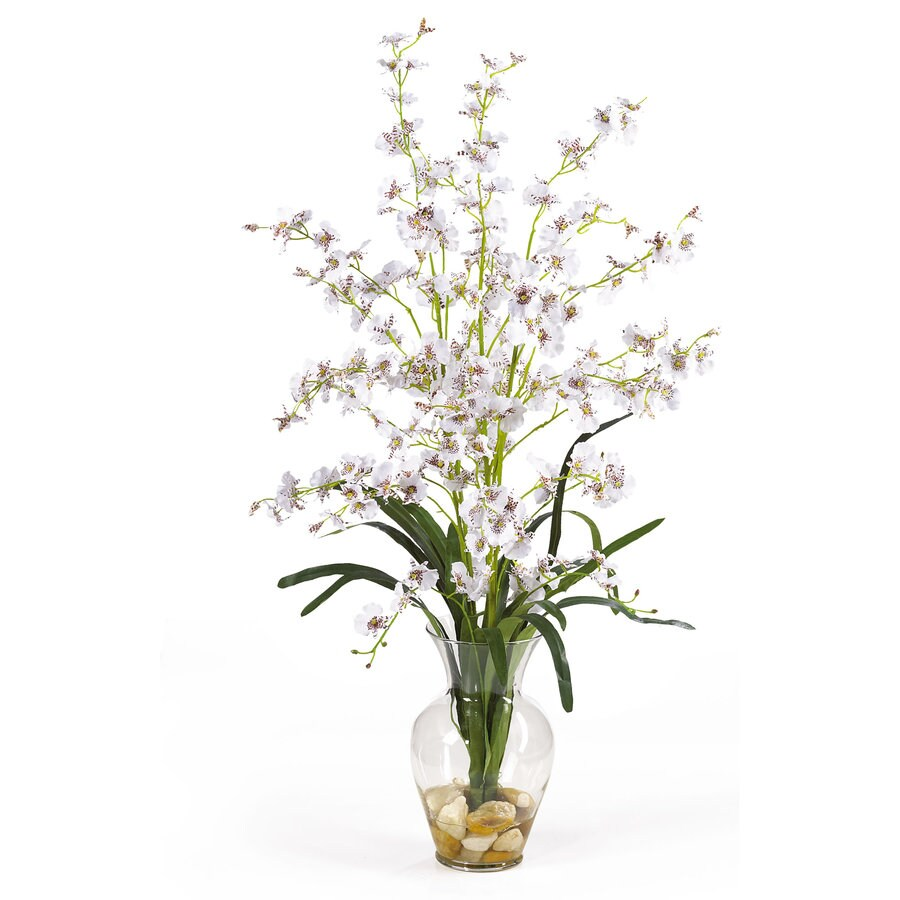 Nearly Natural 31-in White Silk Arrangement
