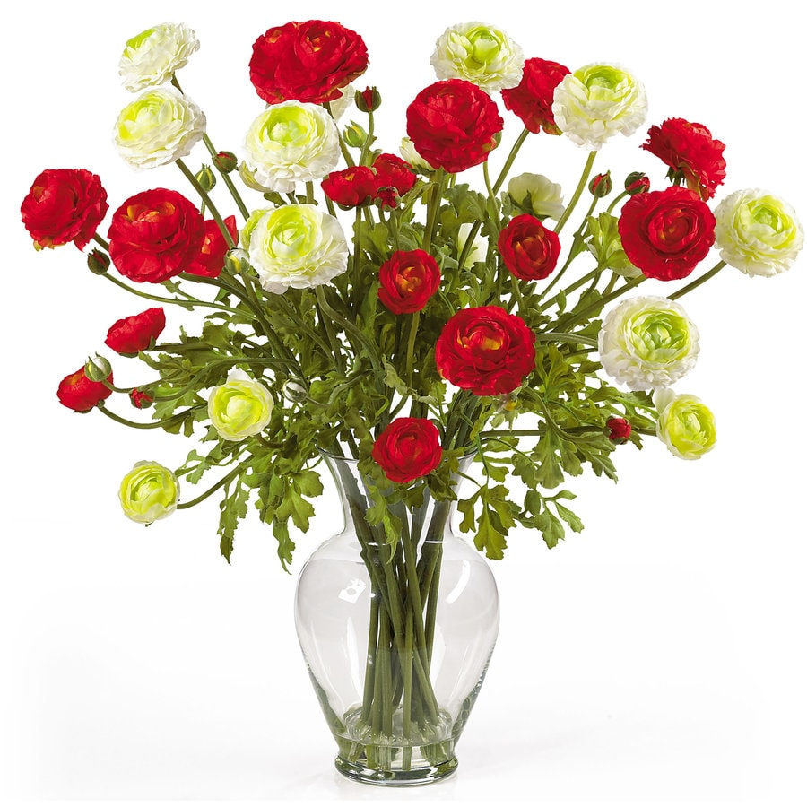Nearly Natural 24-in Red Silk Arrangement