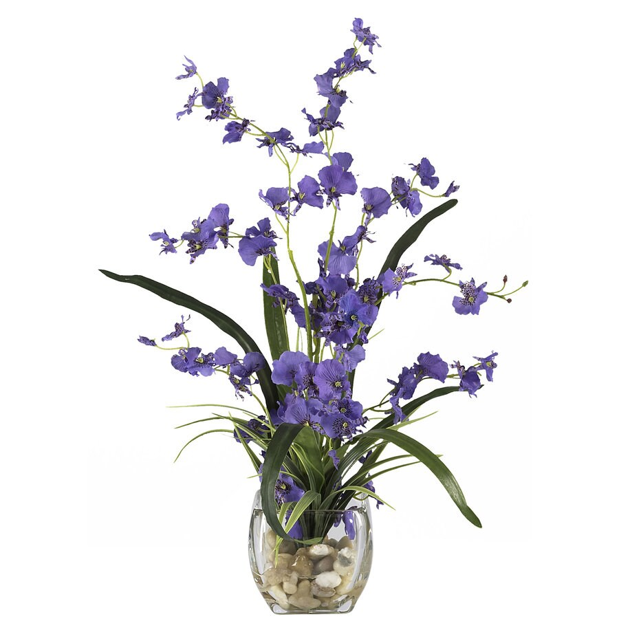 Nearly Natural 19-in Purple Silk Arrangement