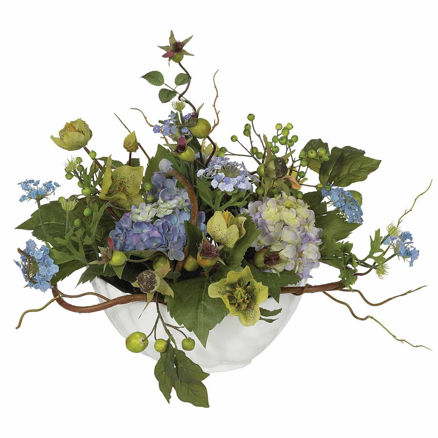 Nearly Natural 14-in Blue Silk Arrangement