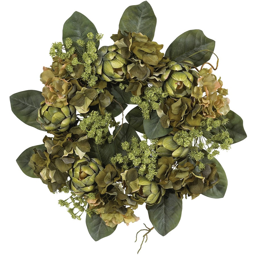 Nearly Natural 18-in Green Wreath