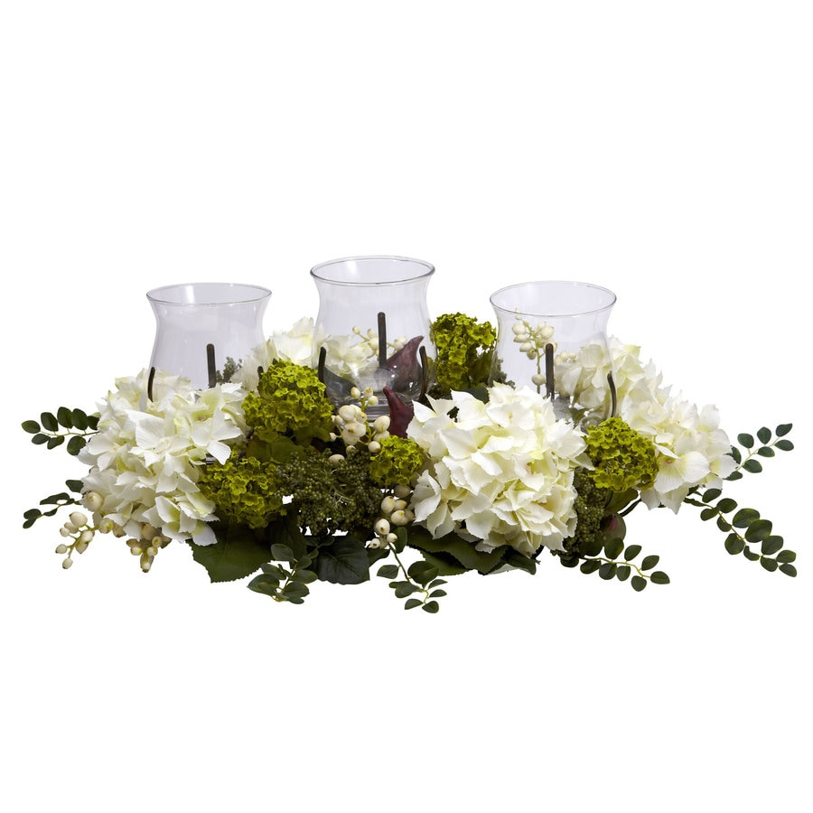 Nearly Natural 9.5-in White Silk Arrangement