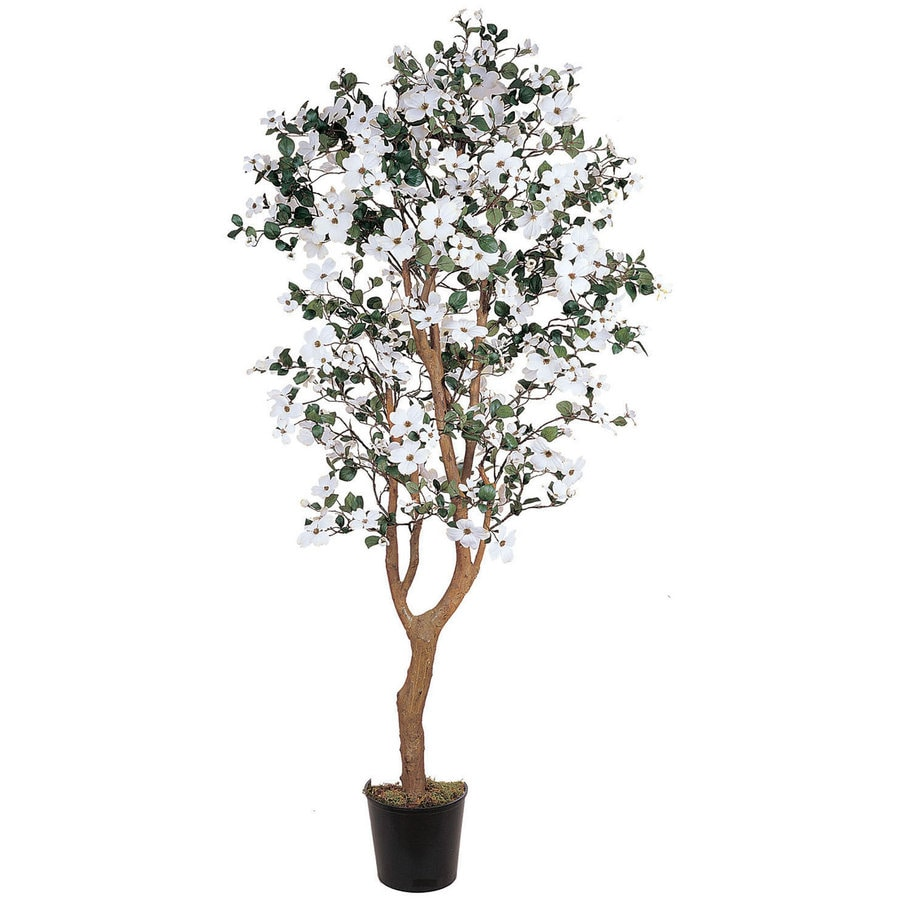 Nearly Natural 60-in White Silk Tree