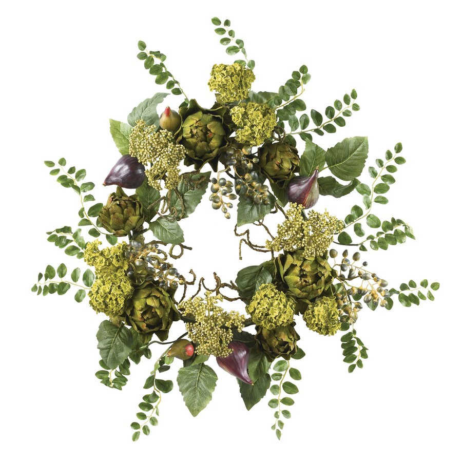 Nearly Natural 20-in Multi Wreath