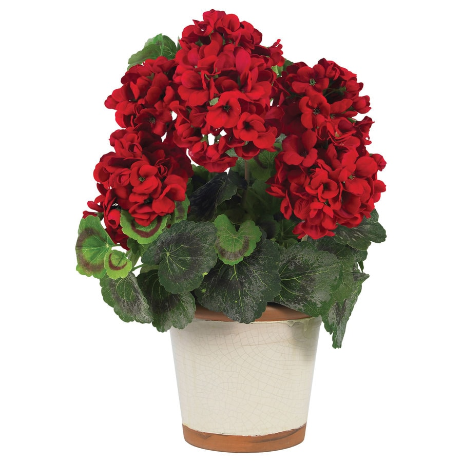 Nearly Natural 17-in Red Silk Plant