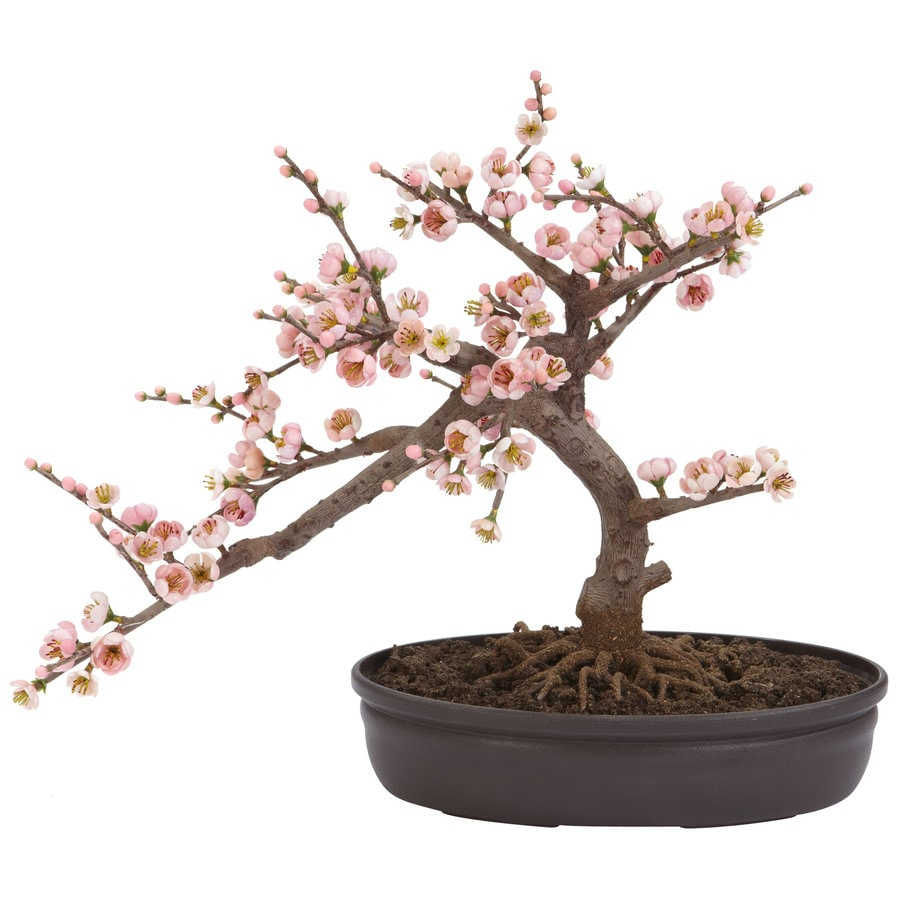 Nearly Natural 15-in Pink Silk Tree