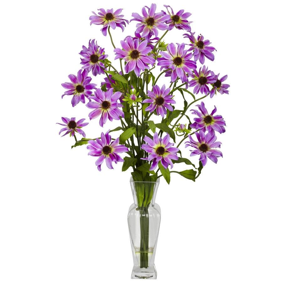 Nearly Natural 27-in Purple Silk Arrangement