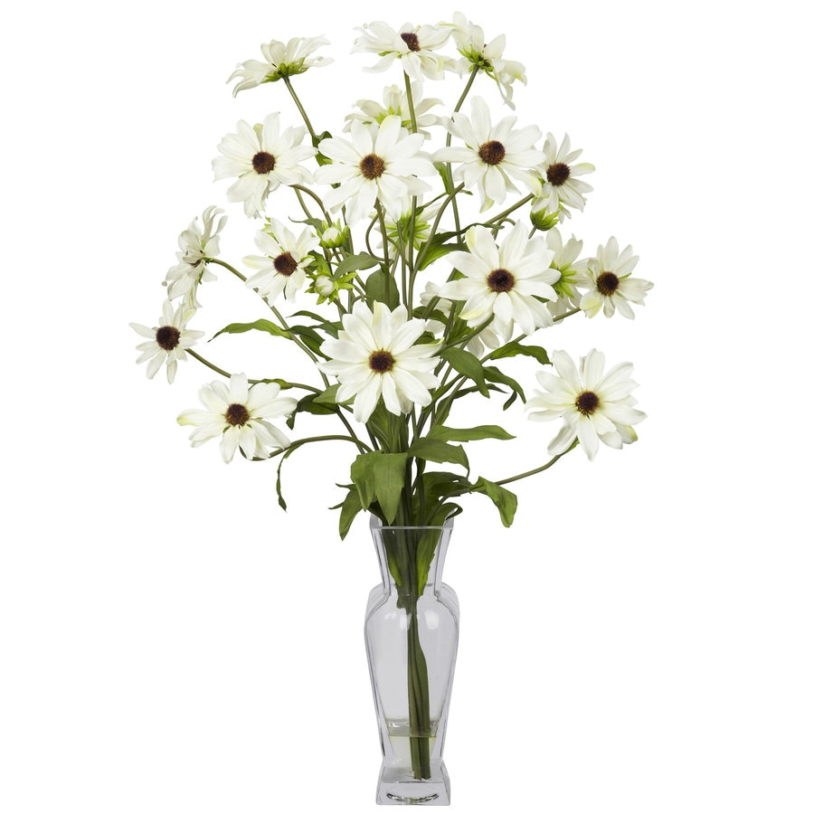 Nearly Natural 27-in White Silk Arrangement