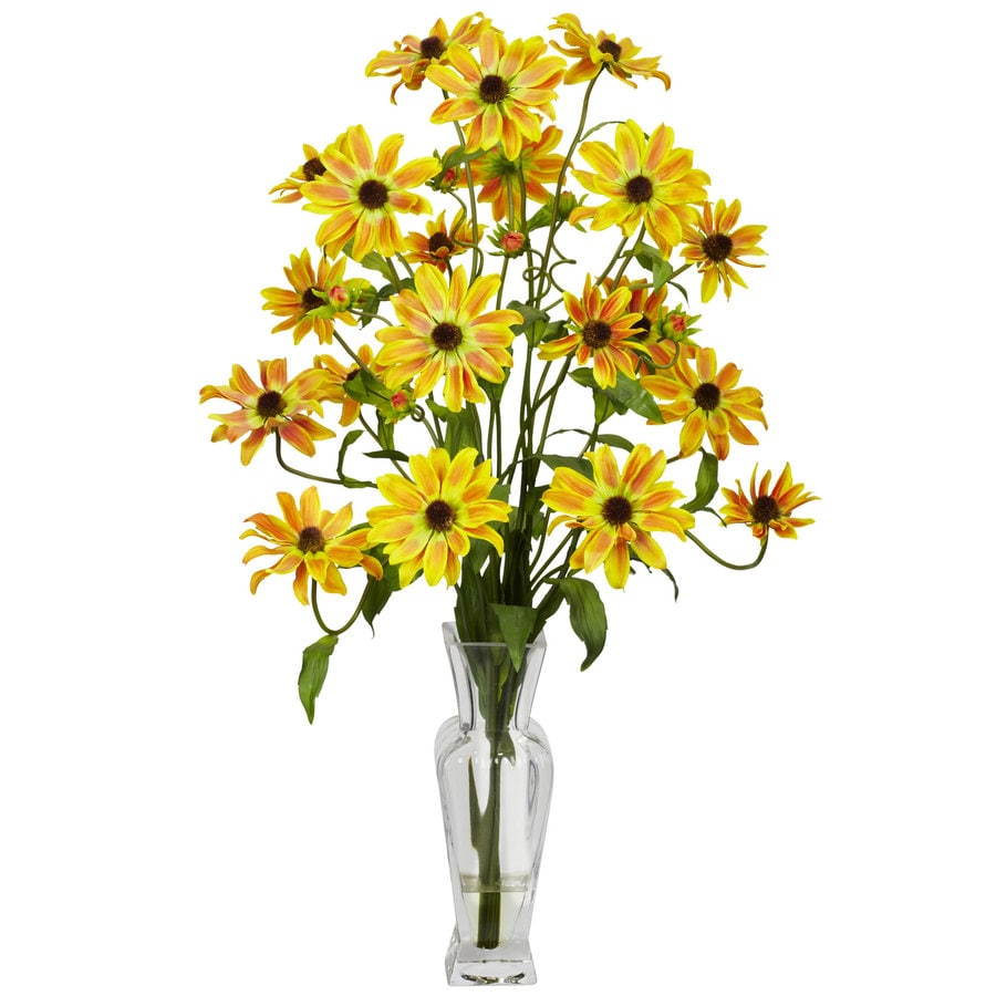Nearly Natural 27-in Yellow Silk Arrangement