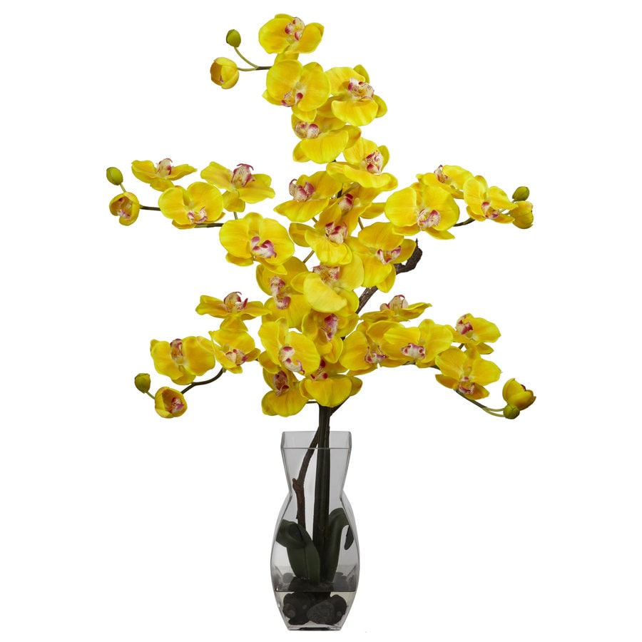 Nearly Natural 29-in Yellow Silk Arrangement
