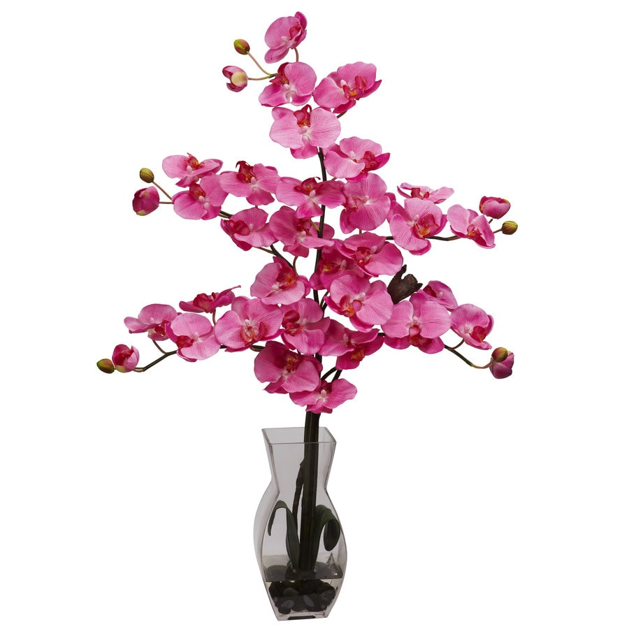 Nearly Natural 29-in Dark Pink Silk Arrangement