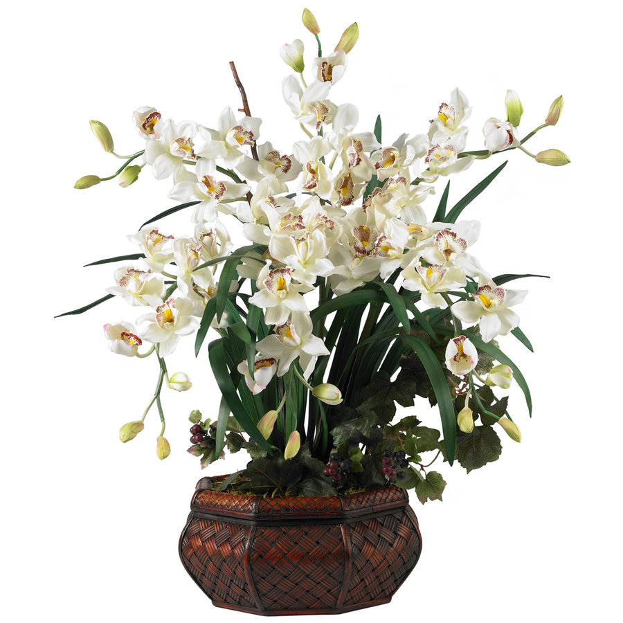 Nearly Natural 36-in White Silk Arrangement
