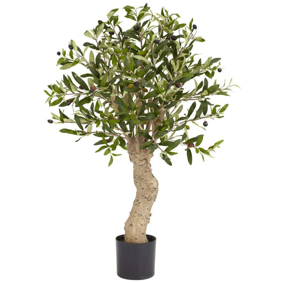 Nearly Natural 30-in Green Silk Tree