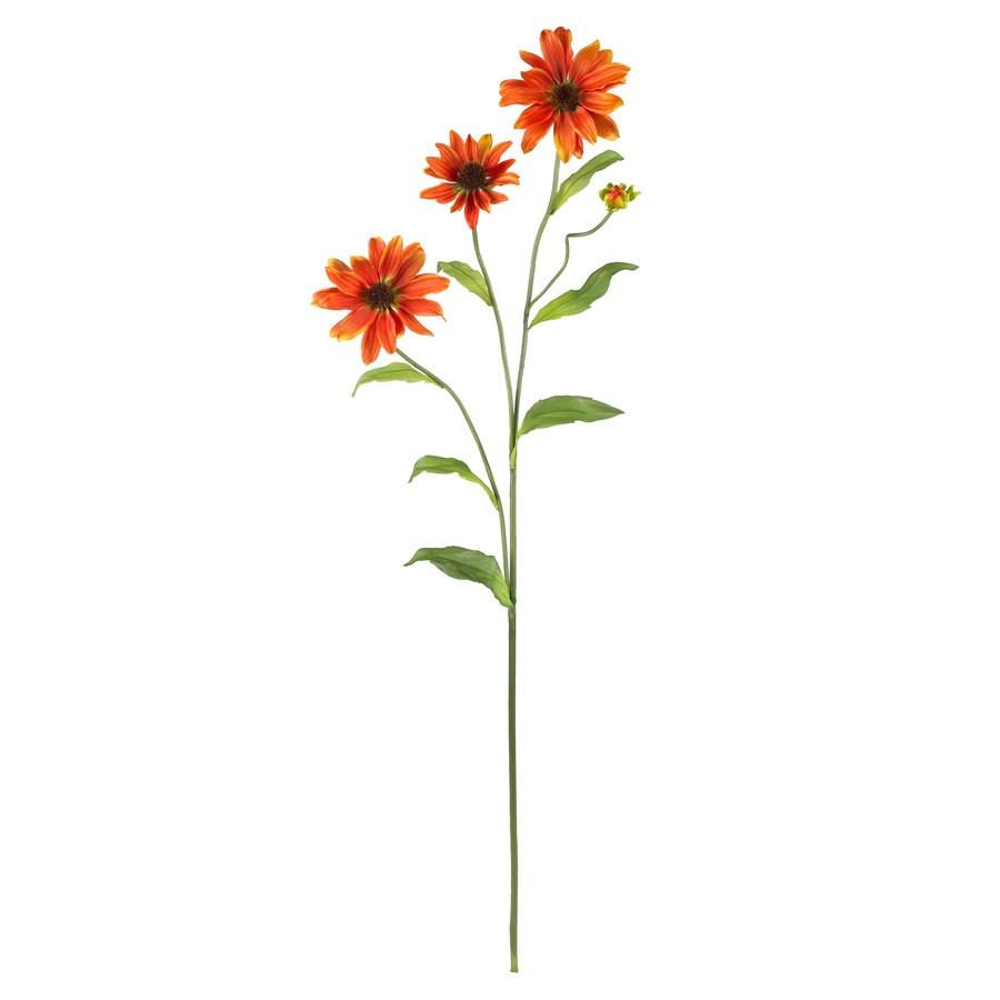 Nearly Natural 28.5-in Orange Silk Flower