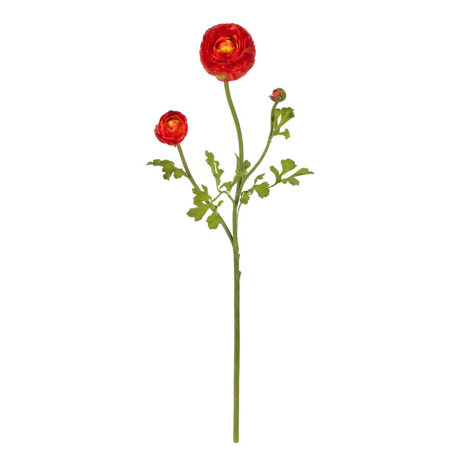 Nearly Natural 23-in Red Silk Flower