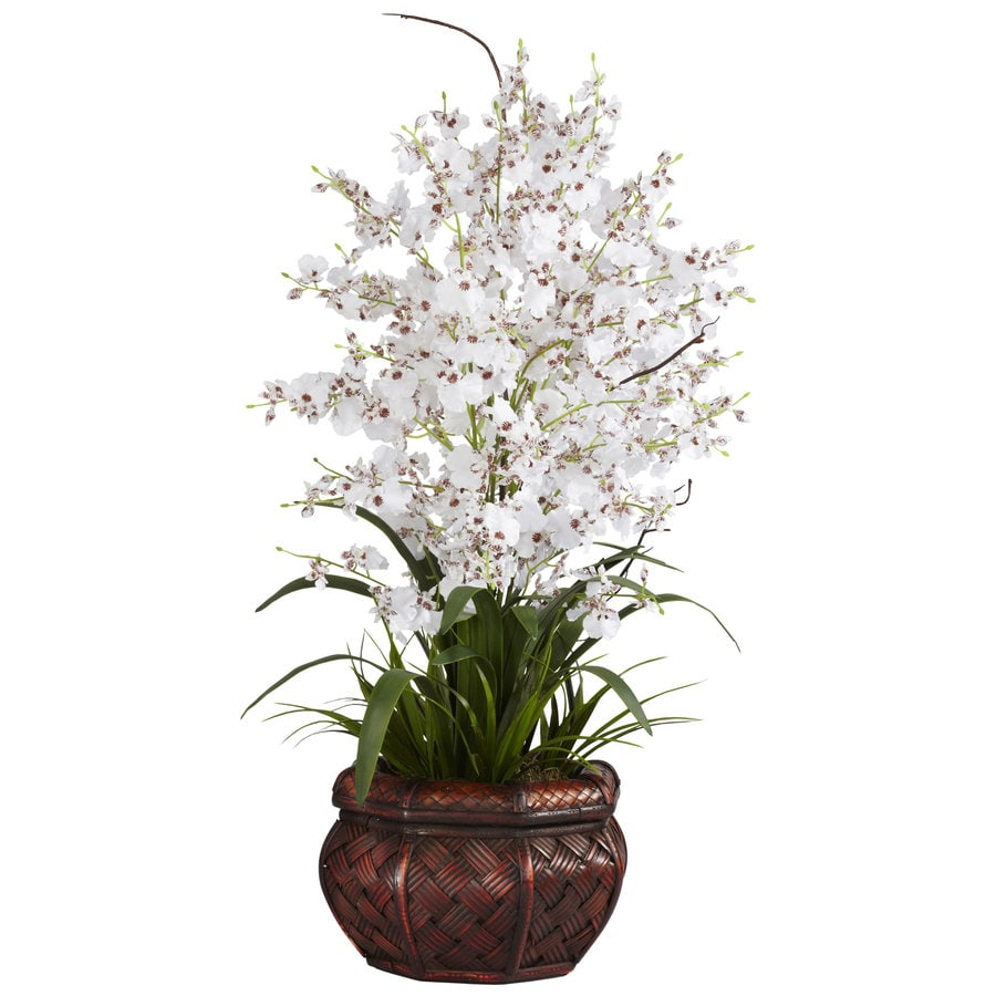 Nearly Natural 30-in White Silk Arrangement