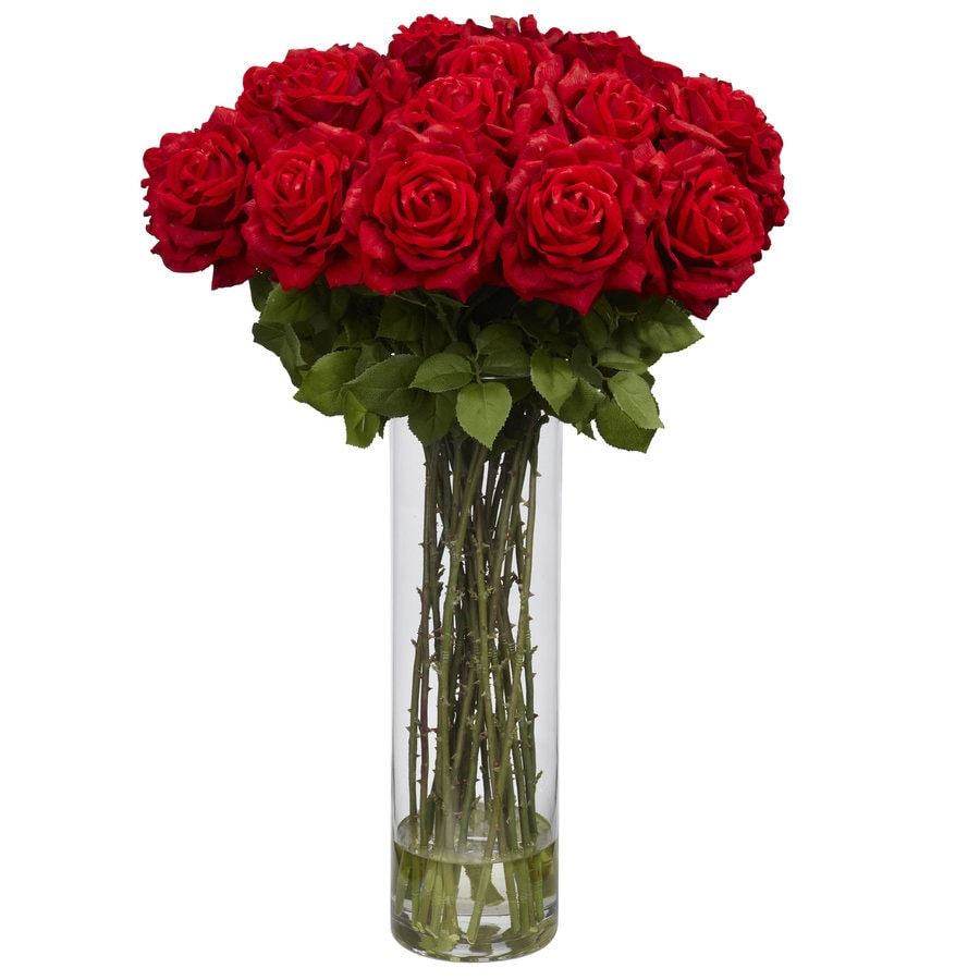 Nearly Natural 31-in Red Silk Arrangement