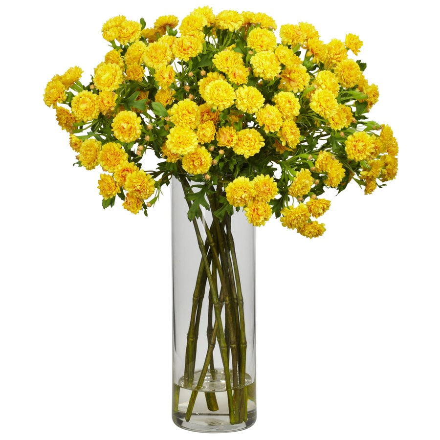Nearly Natural 17-in Yellow Silk Arrangement